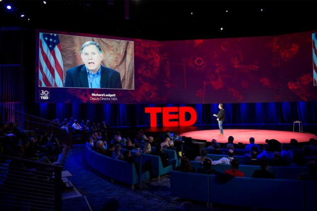 NSA Deputy Director Richard Ledgett appeared at TED via a video link.