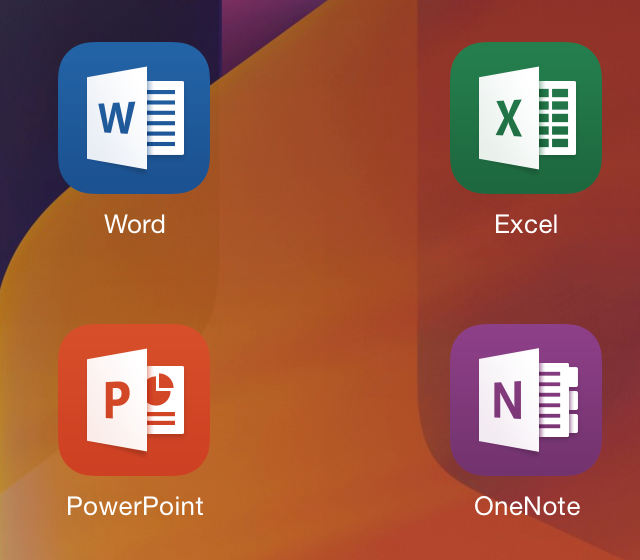 These four applications collectively make up the new Office for iPad suite.