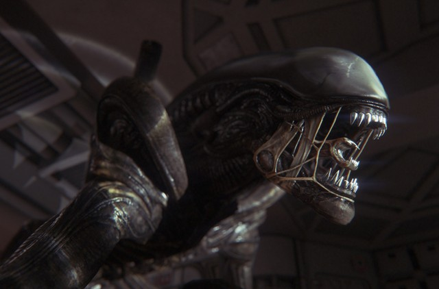 <em>Alien Isolation</em>'s in-game xenomorph wants to know if you could spare a breath mint.