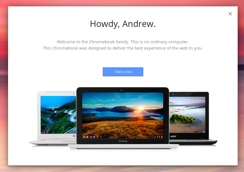 """Chrome OS is so laptop-focused that even the Chromebox welcomes you to the """"Chromebook Family."""""""