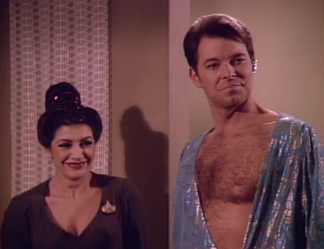 """Commander, I'm sensing that you could do with some manscaping."""