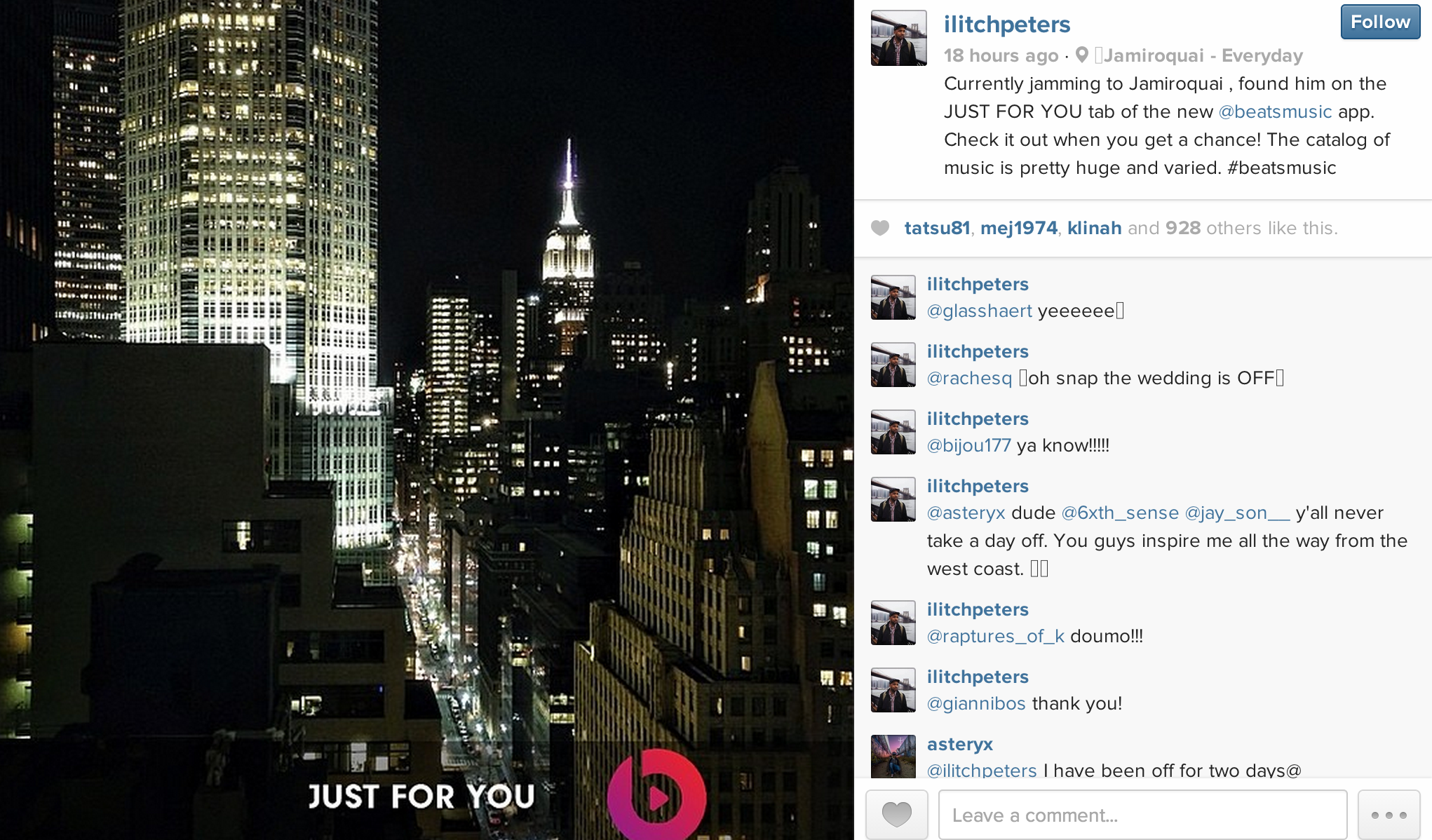 A recent campaign by Beats by Dre that has received some negative reactions on Instagram.