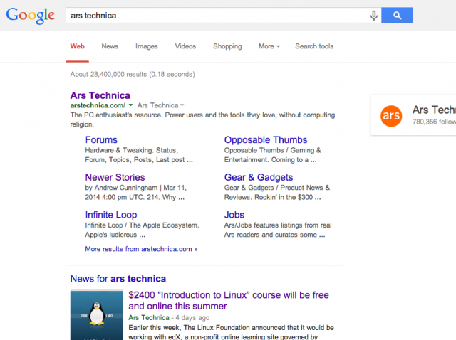 Google's makeover kicks the underlined URL to the curb, with a few other changes.