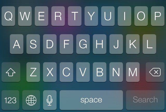 Dark keyboard in iOS 7.0.