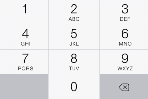 Number pad in iOS 7.0.