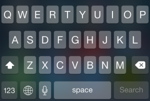 Dark keyboard in iOS 7.1.