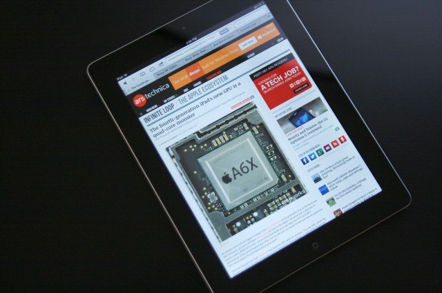 The fourth-generation iPad rises zombie-like from the dead and eats the iPad 2's brains.