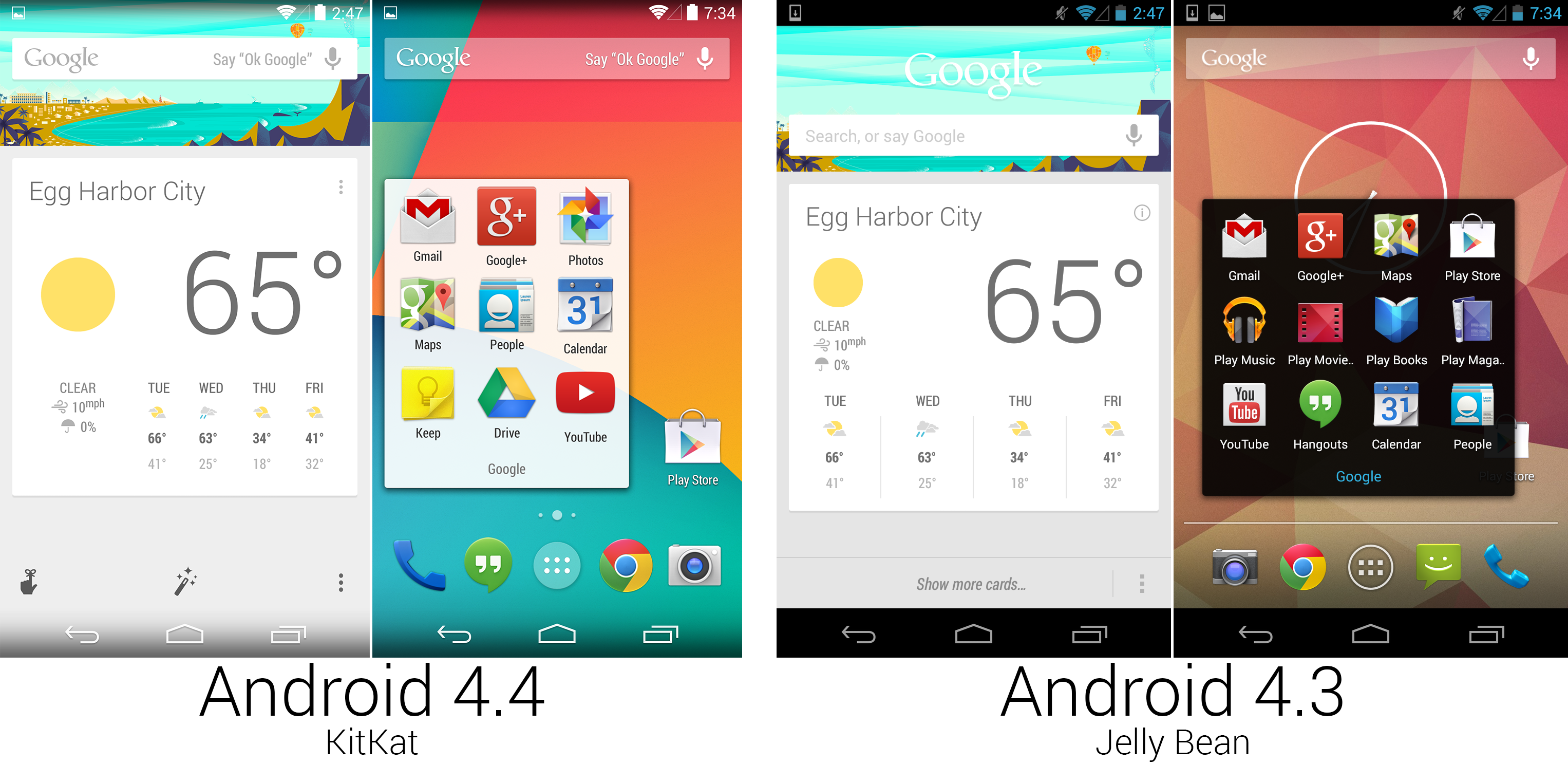 Tweaks to Google Now and the folders.
