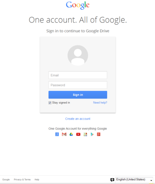 This is not the Google Docs login page you're looking for.
