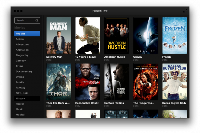 Popcorn Time reinvents the seedy process of torrenting