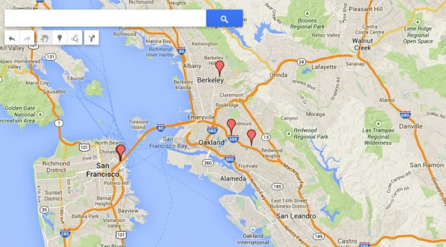 Here are some of the places that Ars tracked Cyrus Farivar to in February 2014.