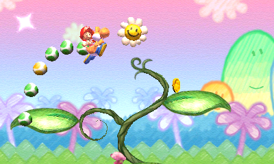 Your self-satisfied grin will match Yoshi's as you find a bevy of hidden items.