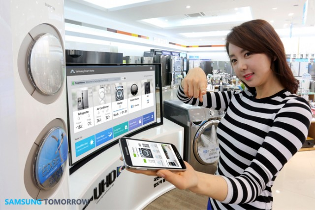 samsung launches smart home android app and two compatible appliances ars technica. Black Bedroom Furniture Sets. Home Design Ideas