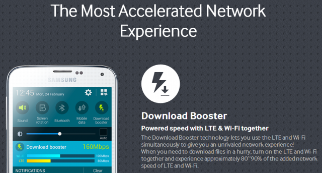 Big carriers remove Samsung's 'Download Booster' from the Galaxy S5