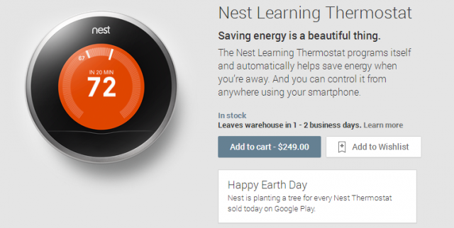 Google puts the Nest Learning Thermostat on the Play Store