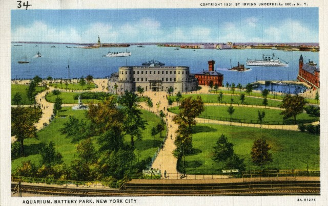Aquarium, Battery Park, New York City [Postcard], ca. 1931. This is just one of the many resources you can find online through the DPLA website or through apps using its API.