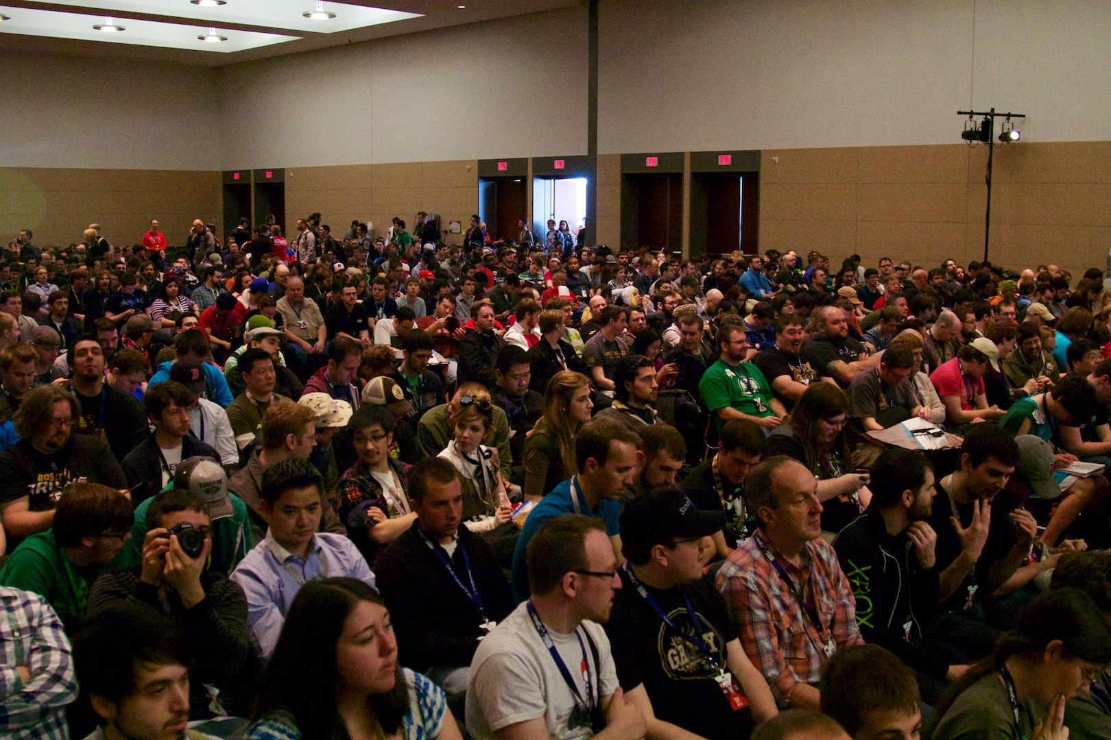 About half of the crowd that had come to listen to the panel.