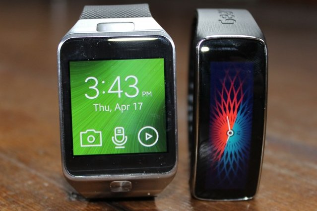 The Samsung Gear 2 and Gear Fit after a week of wrist-derived wear-and-tear.