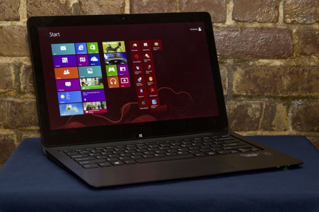 The VAIO Flip 13, a larger version of the laptop that's being recalled.