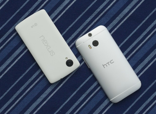 The M8 has a dual-LED flash that the Nexus doesn't, but each phone is good at different things.