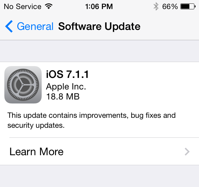 Apple releases iOS 7.1.1 with further Touch ID, keyboard improvements