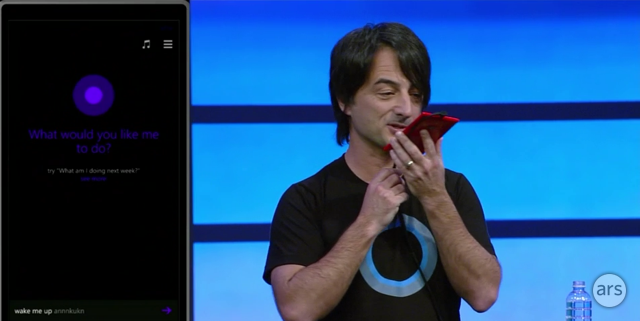 Joe Belfiore introduces Cortana, Windows Phone 8.1's digital assistant.