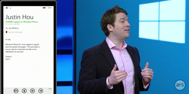 Windows Phone 8.1 introduces support for VPN and S/MIME.