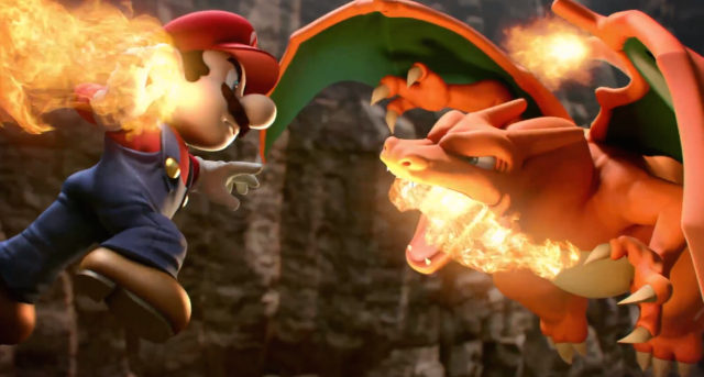 With no ice flowers in sight, Mario decides to let his rage control him and stupidly fight fire with fire.