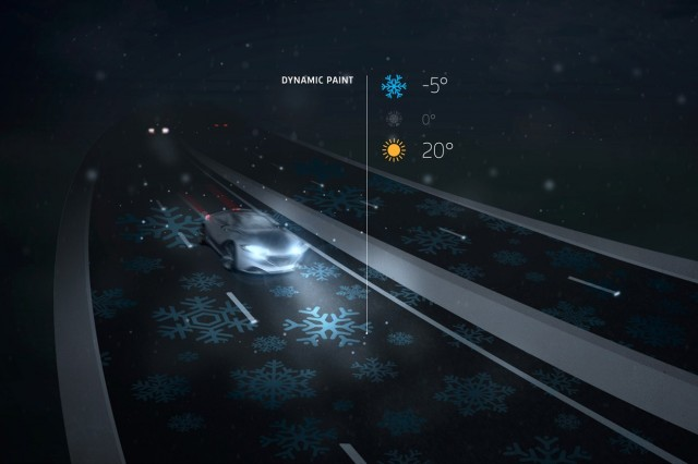 A mock-up of the glowing highway's potential from its designers.