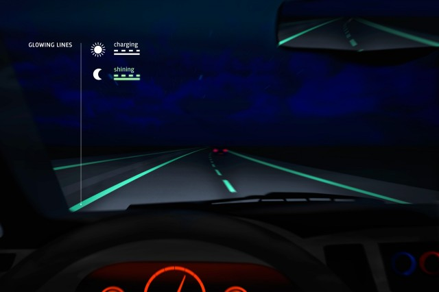 Glow-in-the-dark roads make debut in Netherlands