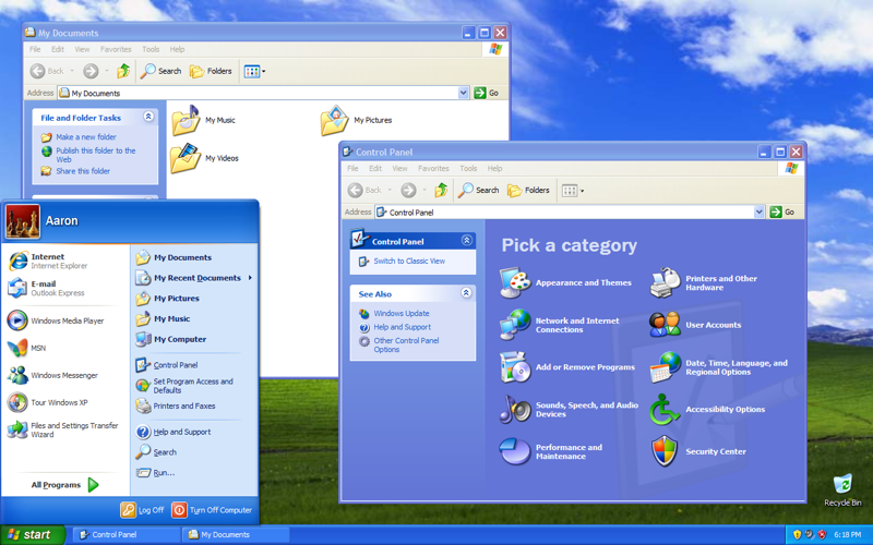 This is what Windows XP actually looks like for those who, like myself, are fortunate enough not to have seen it for many years.