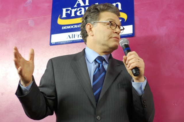 Sen. Al Franken on the campaign trail.
