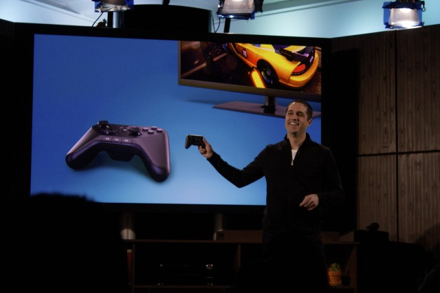 Amazon's new gaming controller, meant to pave the streaming box's way as a gaming device.