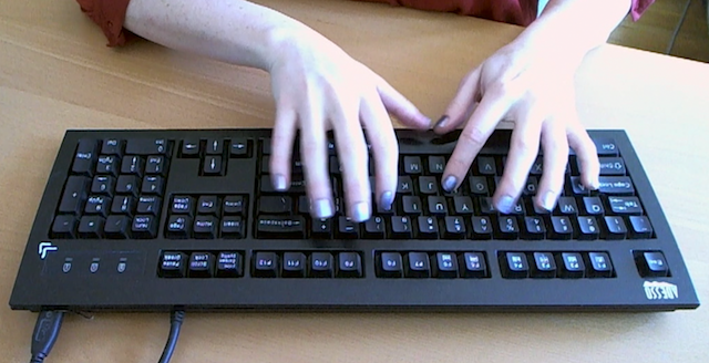 Blurry hands make me look like I can type faster than I do.