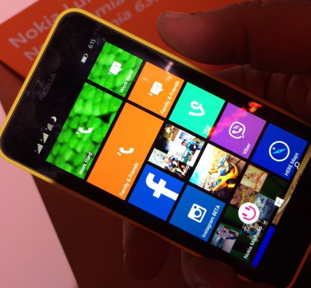 The dual-sim variant of the Lumia 630, designed mostly for the international market, where having two networks on the same phone is an increasingly popular feature.