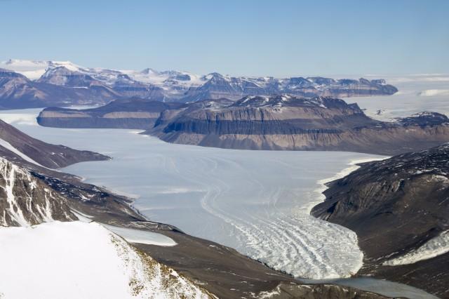 Taylor Glacier in Antarctica.