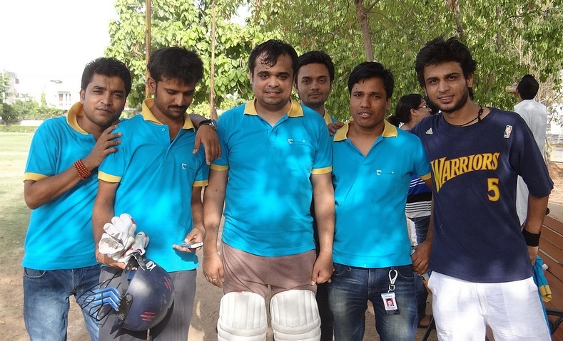 The PCCare247 cricket team after a 2012 match.