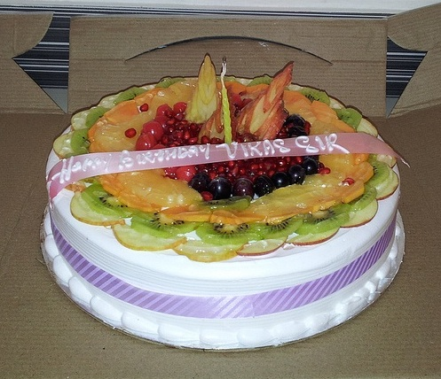 Agrawal's birthday cake.