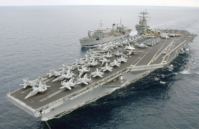 The USS Harry S. Truman apparently had adequate Internet bandwidth for a sailor to hack websites in his spare time.