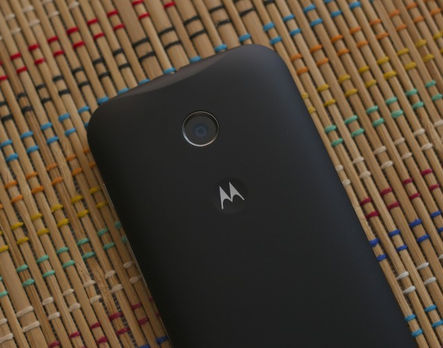 The Moto E's 5 megapixel, flash-free camera.