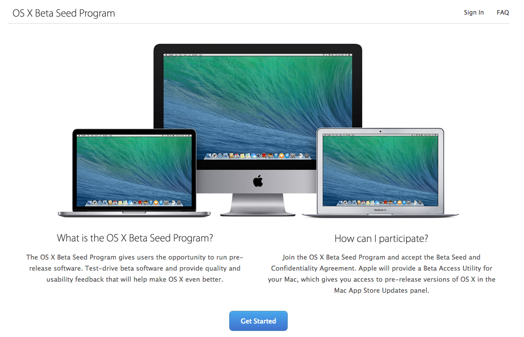 "Could the ""Beta Seed"" program be extended to major versions of OS X?"