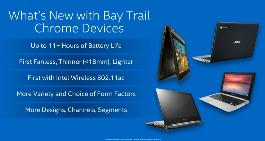 Bay Trail comes to Chromebooks.