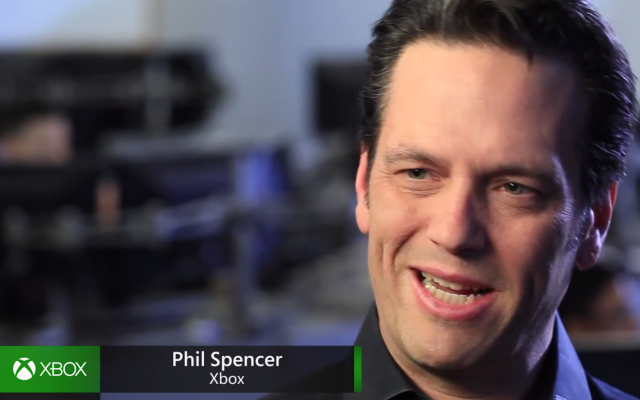 This was the nicest screencap we could grab from today's Xbox One Kinect announcement video, not to mention the happiest expression on Head of Xbox Phil Spencer's face.