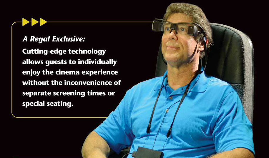Sony's Access Glasses in action.