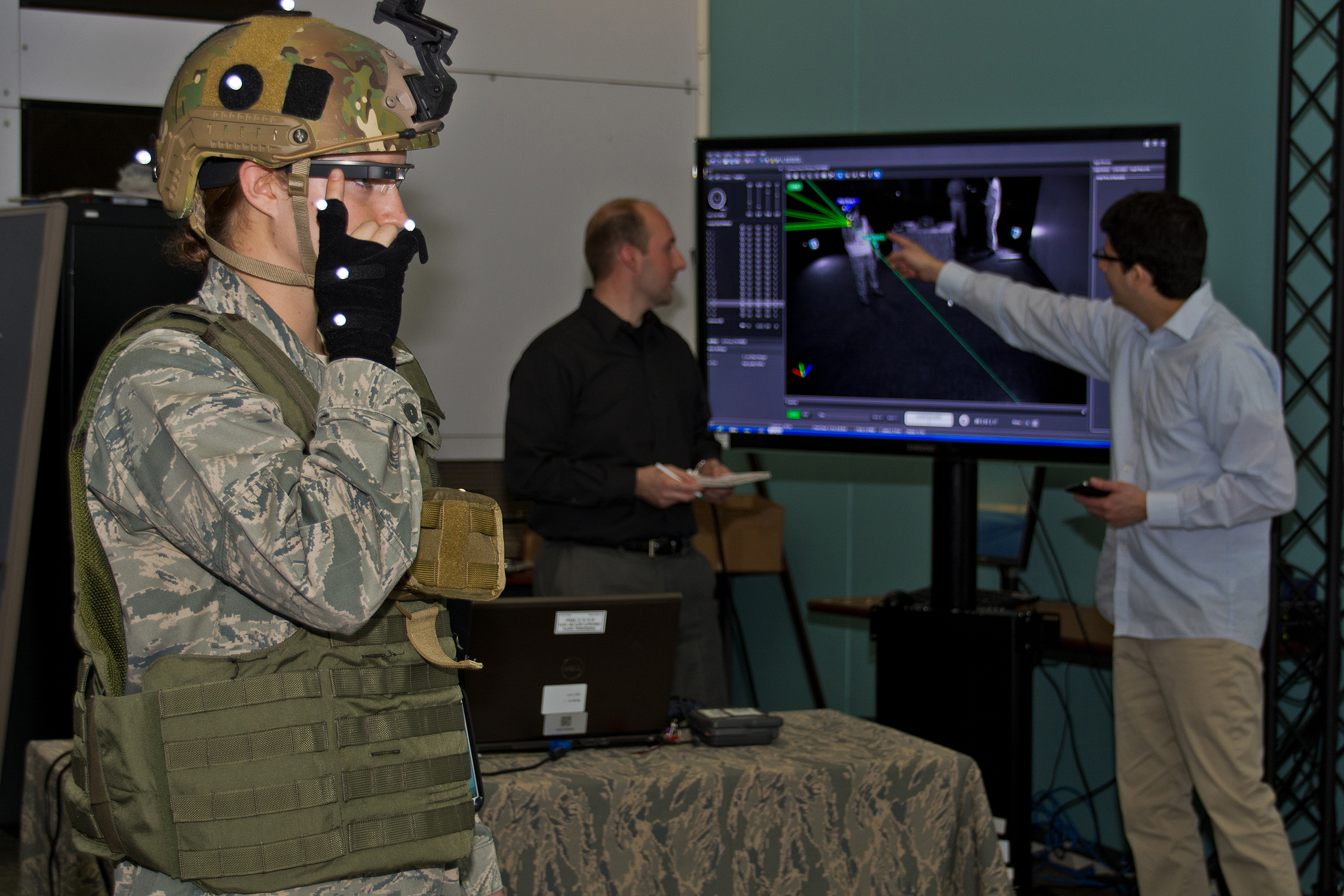 A test of the Google Glass-based BATMAN II at the Air Force Research Lab (AFRL) at Wright-Patterson Air Force Base.