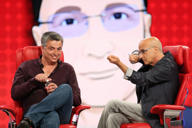 Eddy Cue (left) and Jimmy Iovine (right).