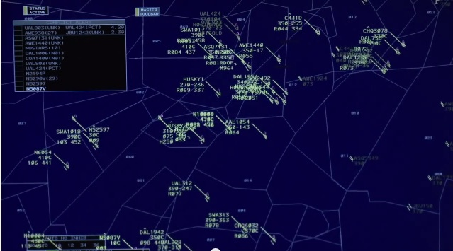 "The FAA's ERAM system provides ""look-ahead"" data about aircraft courses and highlights potential conflicts (also known as mid-air collisions)."