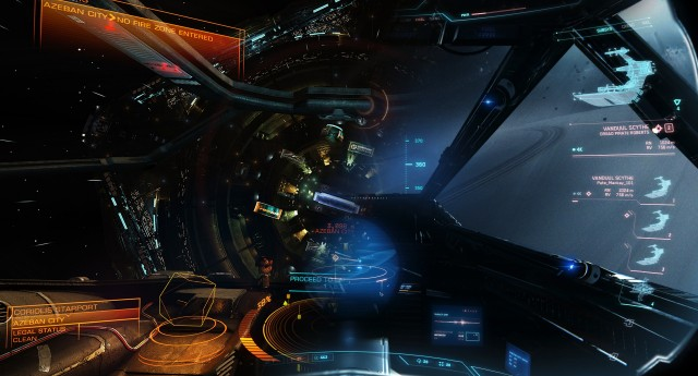 <em>Elite: Dangerous</em> on the left, <em>Star Citizen</em> on the right!