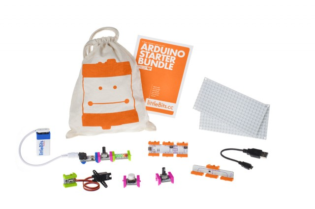 The LittleBits Arduino Starter Bundle—eight magnetically connectable modules to help power hardware-hacking beginners big and small.