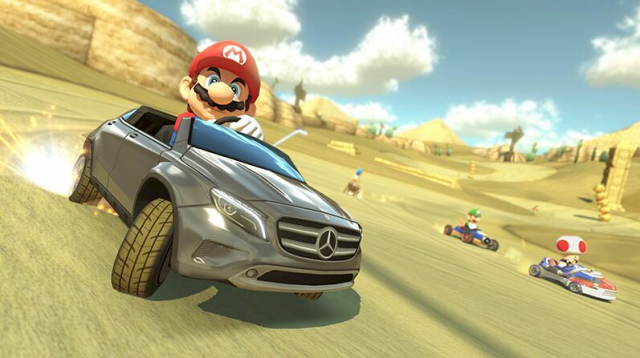 Product placement comes to Mario Kart 8 with free Japanese Mercedes DLC